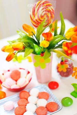 sugarplum: Closeup on table decorated for celebration