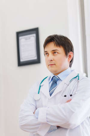 Portrait of thoughtful male medical doctor Stock Photo - 12930739