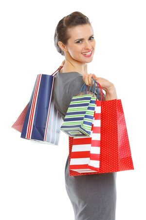 Smiling elegant woman with shopping bags Stock Photo - 12930623