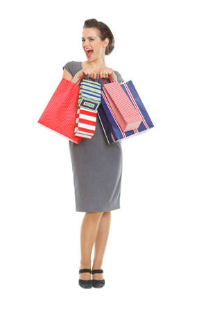 Laughing elegant woman with shopping bags Stock Photo - 12930648