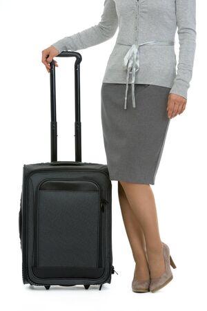Closeup on suitcase near female legs Stock Photo - 13613597