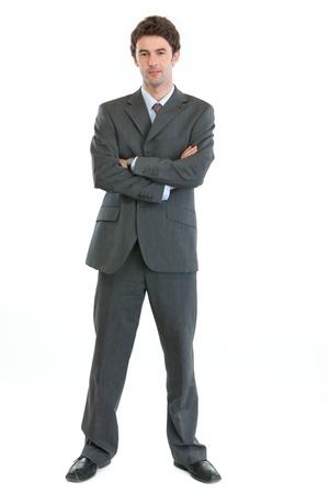 authoritative: Full length portrait of authoritative modern businessman