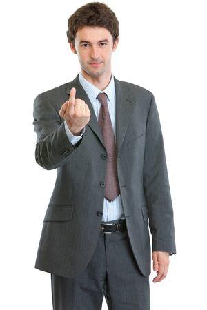se�al de silencio: Se�as de negocios moderno con el dedo