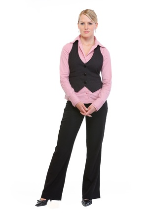 sagacious: Full length portrait of employee woman