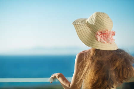 Portrait of smiling woman on vacation Stock Photo - 14329485