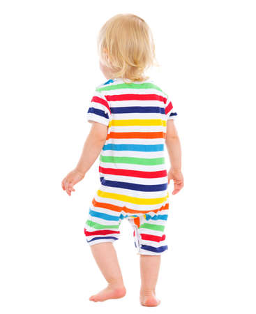 Baby in swimsuit. rear view Stock Photo - 14433342