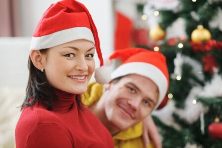 Young couple spending Christmas time together Stock Photo - 14768078