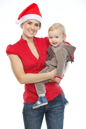 Portrait of mother and baby celebrating Christmas Stock Photo - 14768080