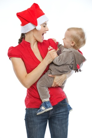 Young mother spending Christmas time with baby Stock Photo - 14768084
