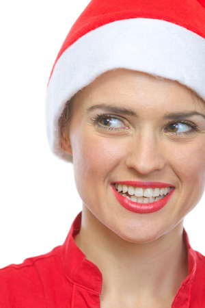 Closeup on smiling young woman in Santa hat Stock Photo - 15762164