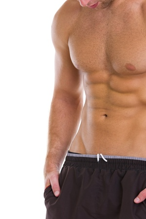 abdominal muscles: Closeup on abdominal muscles Stock Photo