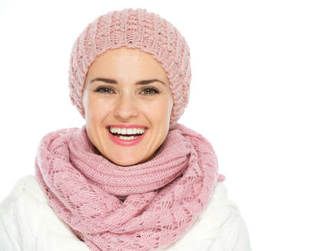 Portrait of smiling woman in knit winter clothes Stock Photo - 16467294