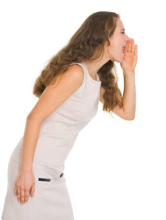 Young woman shouting Stock Photo - 16882331
