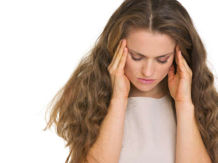 Portrait of stressed young woman Stock Photo - 16882335
