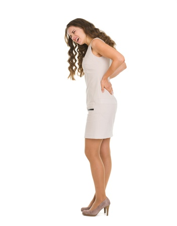 Woman having pain in back Stock Photo - 16882277