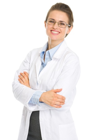 Portrait of happy ophthalmologist doctor with glasses Stock Photo - 17056143