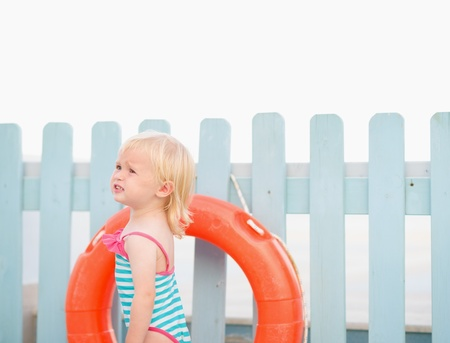 Portrait of baby with lifebuoy Stock Photo - 17283112