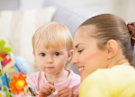 Mother and baby spending time together Stock Photo - 17304858