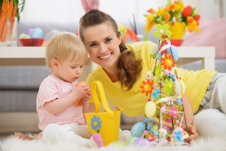 Baby and mother spending time together on Easter Stock Photo - 17304822