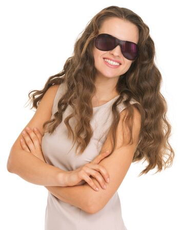 Smiling young woman in sunglasses Stock Photo - 17382791