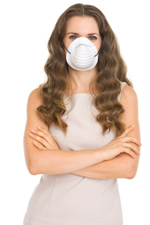 Young woman in cone mask Stock Photo - 17418538