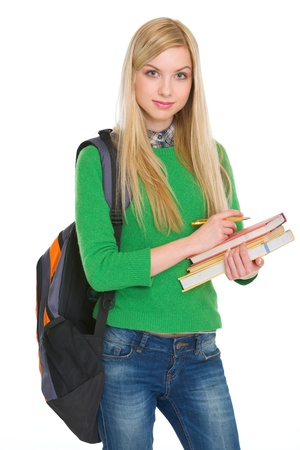 Portrait of student girl with backpack Stock Photo - 17418542