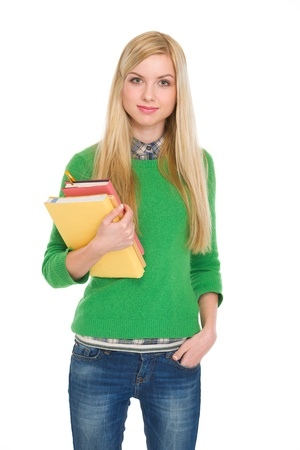Portrait of student girl with books Stock Photo - 17418532