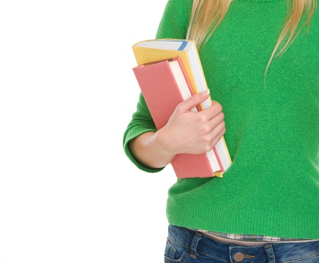 Closeup on student girl with books Stock Photo - 17418540