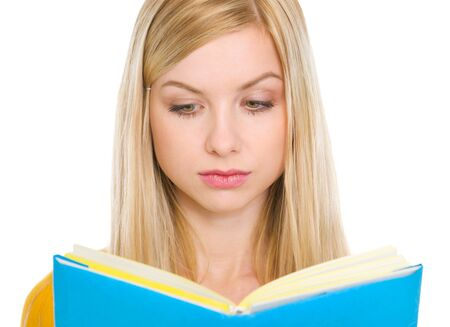 Student girl reading book Stock Photo - 17418443