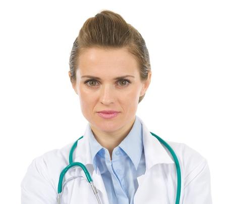 authoritative woman: Portrait of medical doctor woman