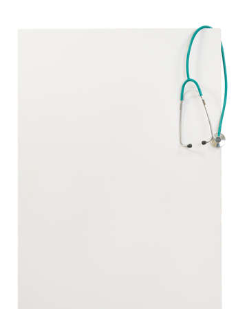 recommendations: Blank billboard with stethoscope