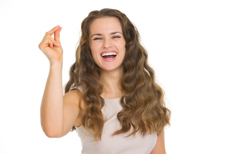 plainness: Smiling young woman snapping fingers