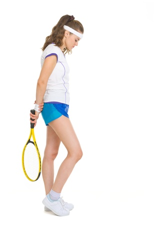 Full length portrait of female tennis player Stock Photo - 18059386