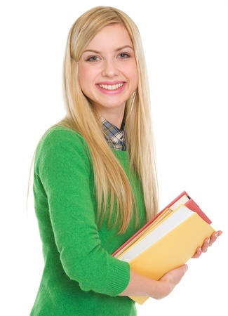 Portrait of smiling student girl with books Stock Photo - 18204793