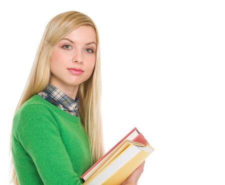 Portrait of student girl with books Stock Photo - 18204741