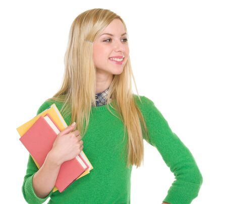 Student girl looking on copy space Stock Photo - 18204769