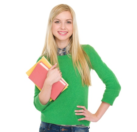 Portrait of smiling student girl Stock Photo - 18204742