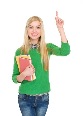 Portrait of happy student girl having idia Stock Photo - 18204782