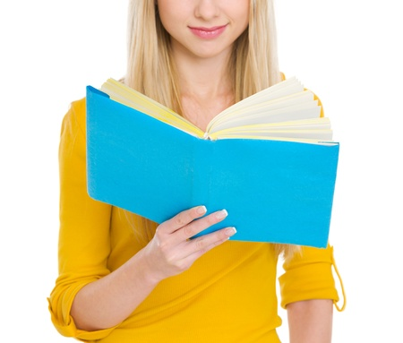 Closeup on student girl reading book Stock Photo - 18204692