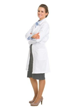 Full length portrait of woman in white robe Stock Photo - 18624901