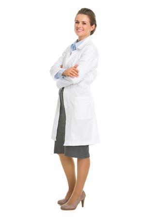 Full length portrait of woman in white robe Stock Photo - 18624901