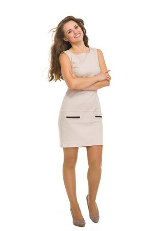 Full length portrait of happy young woman Stock Photo - 18788213