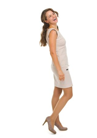 Full length portrait of smiling young woman Stock Photo - 18788216