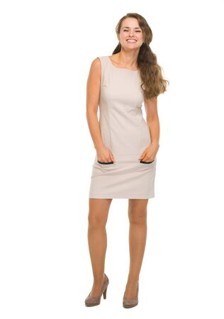 Full length portrait of happy young woman Stock Photo - 18788205
