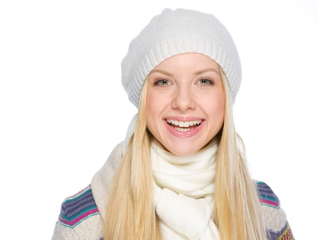 Portrait of smiling girl in winter clothes Stock Photo - 19226694