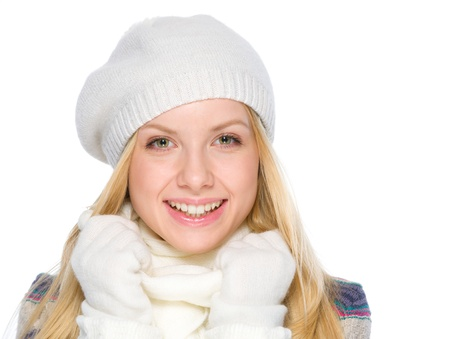 Portrait of happy girl in winter clothes Stock Photo - 19226696