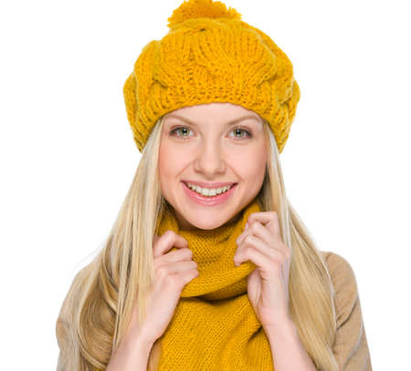 Portrait of happy girl in autumn clothes Stock Photo - 19226700