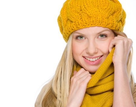 Portrait of smiling girl in autumn clothes Stock Photo - 19226719