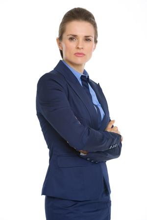 sureness: Portrait of confident business woman Stock Photo