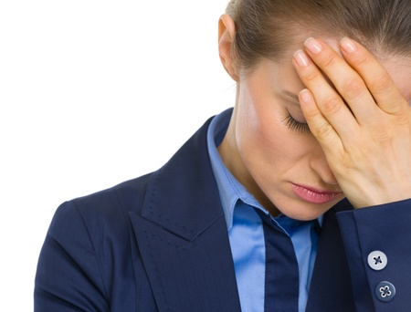 Portrait of stressed business woman Stock Photo - 19614316